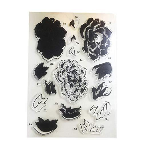 Vektenxi Premium Qualität Rose Blume Silikon Transparent Klar DIY Stempel Album Tagebuch Scrapbooking Dekoration