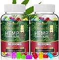 60,000mg Hemp Gummies - 2 Pack Fruity Gummy Bear Edibles,Herbal Gummies 100% Natural Oil Infused Gummies 120ct