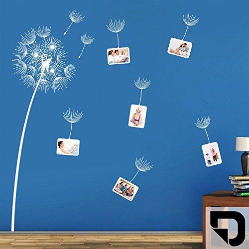 DESIGNSCAPE® Wandtattoo Fotorahmen Pusteblume HÖHE: 120 cm schwarz DW807219-S-F4