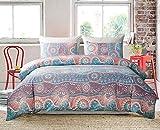 GEFEII Bohemian Duvet Cover Set King Comforter Cover Set 3 Pieces Bedding104 x 90' (1 Duvet Cover and 2 Pillowcases) Microfiber Soft Lightweight Boho Bedding Set(Style 5, King)