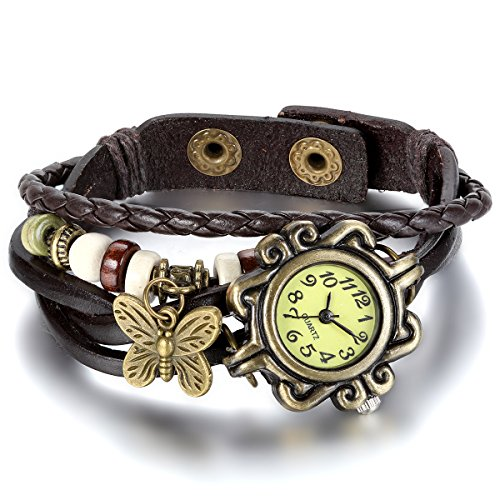 JewelryWe Damen Armbanduhr, Retr...