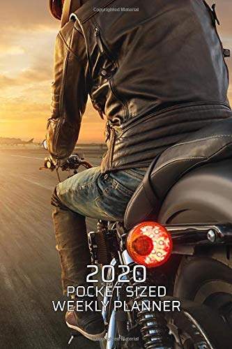 2020 Pocket Sized Weekly Planner: Cafe Racer Motorcycle Rider | Daily Weekly Monthly View | Simple Biker…
