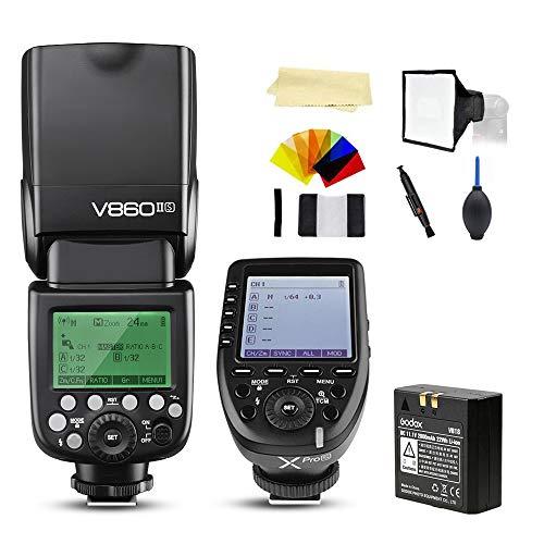 Godox V860IIS TTL 24G High Speed Sync 1/8000s GN60 Liion Battery Camera Flash Speedlite Light Compatible for Sony Cameras amp Godox XProS Wireless Flash Trigger Transmitter
