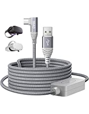 Oculus Link Cable 16ft/5M, Braided 90 Degree Quest 2 Link Cable 5Gbps Fast Data Transfer USB C Charging Cable for Oculus Quest 2/Oculus Quest-Virtual Reality Headset, Gaming PC
