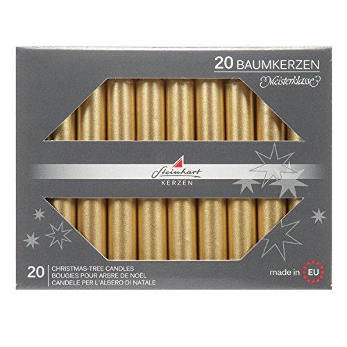 Steinhart Kerzen Baumkerze 20er Packung Gold
