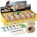 Dig a Dozen Dino Eggs Kit - Easter Egg Toys for Kids - Break Open 12 Unique Large Surprise Dinosaur Filled Eggs and Discover 12 Cute Dinosaurs - Archaeology Science STEM Crafts Gifts for Boys & Girls