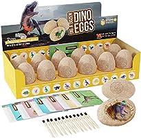 Dig a Dozen Dino Eggs Dig Kit - Easter Egg Toys for Kids - Break Open 12 Unique Large Surprise Dinosaur Filled Eggs &...