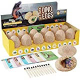 Dig a Dozen Dino Eggs Dig Kit - Easter Egg Toys for Kids - Break Open 12 Unique Large Surprise Dinosaur Filled Eggs &...