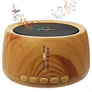 White Noise Machine Sleep Sound Machine for Adult Baby Kids 30 Soothing Natural Sounds 35 Volume Levels Timer and Memory Feature Portable Therapy Wood Grain for Home and Office Privacy