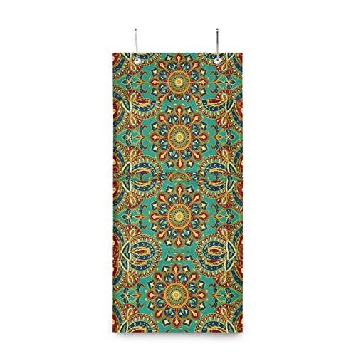 Hunihuni Indisches Tribal-Mandala-Blumenmuster, 4 Taschen, Wandbehang, Aufbewahrungstasche über der Tür, Schrank-Organizer, multifunktionale Regal-Tasche für Schlafzimmer