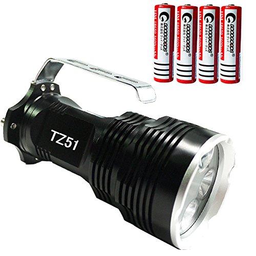 グッドグッズ(GOODGOODS) LED サーチライト 懐中電灯 6500LM CREE XM-L T6*5粒搭載 広角 防水 5モード 【一年保証】 TZ51