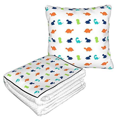 Manta suave 2 en 1 con patrón de dinosaurios, manta de forro polar para invierno, para sofá, oficina, para hombres y niños