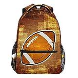 Oarencol Vinatge Sac à Dos Ballon de Rugby Sac à Dos de Voyage, d'école, pour Femmes, Hommes, Filles et garçons