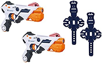 AlphaPoint Nerf Laser Ops Pro Toy Blasters - Includes 2 Blasters & 2 Armbands - Light & Sound FX - Health & Ammo Indicators - for Kids, Teens & Adults