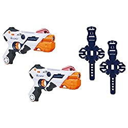 powerful AlphaPoint Nerf Laser Ops Pro Toy Spotlights – Includes 2 Spotlights and 2 Headbands – Lights and Sound Effects…