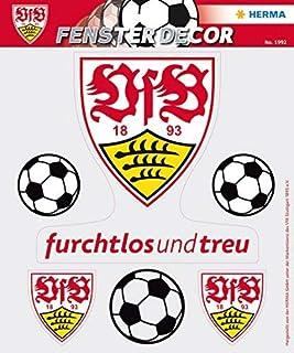 HERMA 1992etiqueta ventana imágenes sin pegamento, Fútbol Bundesliga Escudo del VfB Stuttgart, diseño logo con 3pelotas ...
