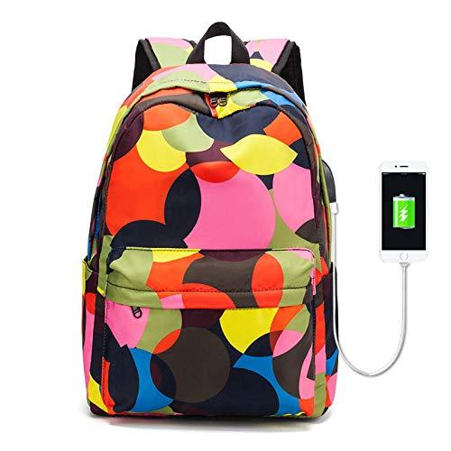 Yidajiu Rugzak, dames, reis-rugzak, waterdicht, camouflage, voor laptop, dagelijks gebruik, voor studenten, met USB-aansluiting voor opladen