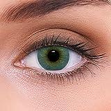 LENZOTICA lenti colorate 2 pezzi lenti a contatto naturale   lenti blu colore Atlantis Blue + contenitore DIA 14.00 senza correzione 0.00 Diottrie   lenti a contatto
