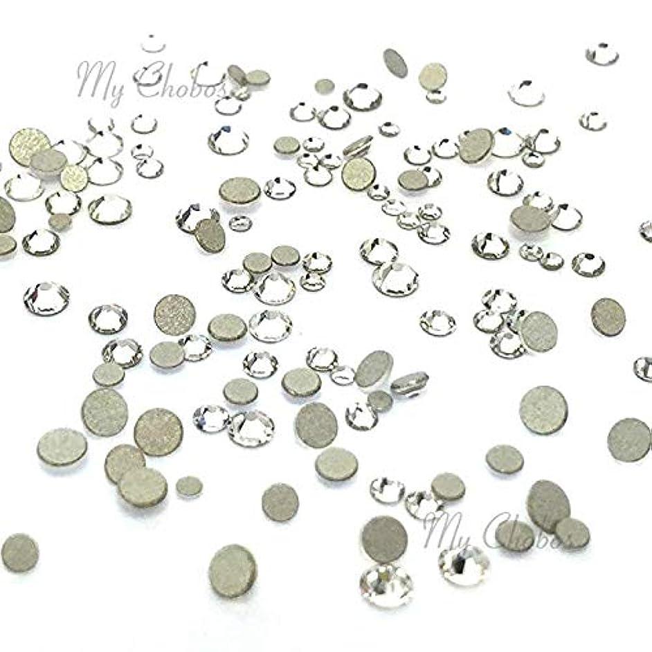 Crystal (001) Clear Tiny Small Sizes Mixed with Swarovski 2058 Xilion Rose flatbacks Sizes ss3, ss5, ss6, ss7, ss9, ss10 No-Hotfix Rhinestones Nail Art 144 pcs (1 Gross)