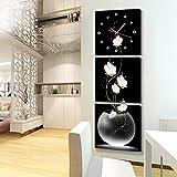 NHLGZ NIUHL Orologio Orologio-Wall NHL creativo arte pittura orologio da parete verticale Versione Del Triple Hanging Quadri senza cornice 40 * 40 cm