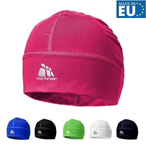 meteor Muts onder Fietshelm Skihelm - Rennende hoed - Beanie perfect voor heren dames jeugd kinderen - Unisex - One size - Shadow