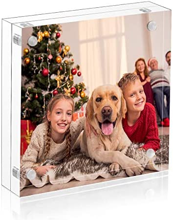 4x4 Clear Picture Frame Double Sided Acrylic Photo Frames with Gift Box Package product image