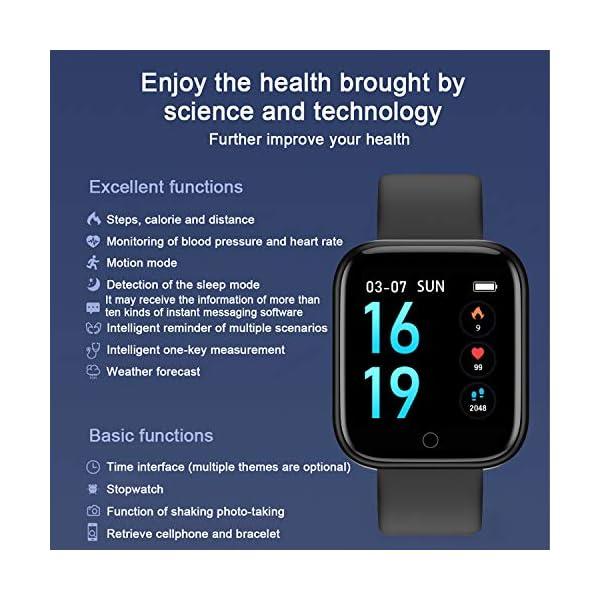 Smart Pulsera Fitness Tracker- Reloj Inteligente para Hombres Mujeres Bluetooth Rastreador de Actividad con Monitor de… 6
