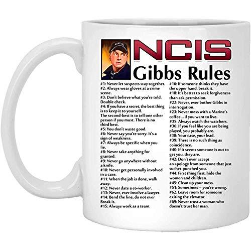 Ncis Gibbs Rules Ncis Gibbs Rules Becher Weiß 11Oz Ceramic Coffee Cup Gift