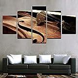 KANGZEDT Leinwand malerei - 5 Stück 200*100CM Musikinstrument Geige Bild auf Leinwand -...