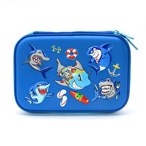 Shark Pencil case EVA PU Leather trousse scolaire stylo Kawaii Pen case Fish Eenhoorn Potlood Doos D
