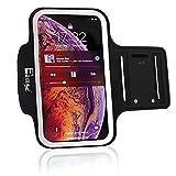 RevereSport Brazalete Deportivo iPhone 12. Antideslizante contra Sudor Armband para Correr, Fitness. Gimnasio, Ciclismo. Teléfono Funda de Ejercicio