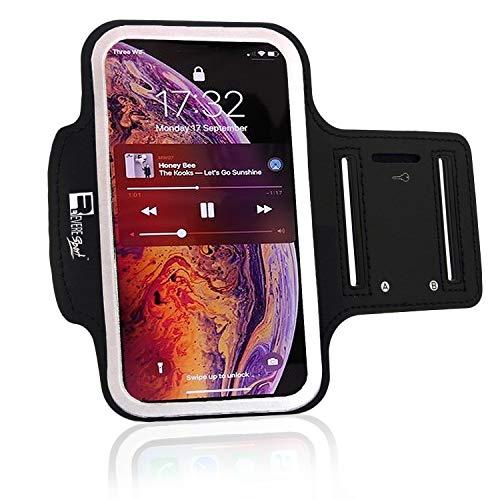RevereSport iPhone 12 Mini Sportarmband. Armband Telefon Handyhalter Case für Laufen, Workout, Joggen und Fitness