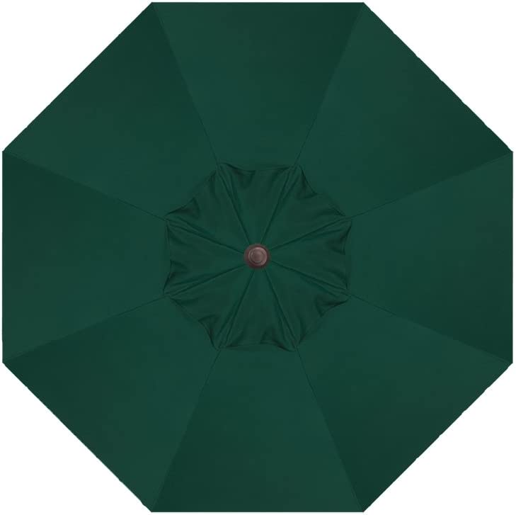 Treasure Garden 9-FT Octagon Replacement Canopy for 9-Ft Frame with 8-Ribs: Sunbrella Fabric 5446: Forest Green