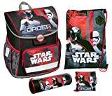 Undercover Schulranzen Set Cosmos, Star Wars, 4 teilig Cartable, 38 cm, 13.5 liters, Rouge (Schwarz)