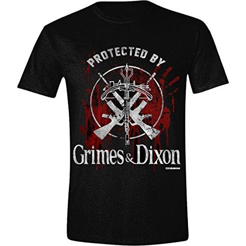 The Walking Dead Grimes and Dixon T-Shirt, Noir (Black), XX-Large Homme