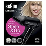 Braun Satin Hair 3 Style&Go Haartrockner HD350, mit IonTec und Stylingdüse, 1600 Watt - 5