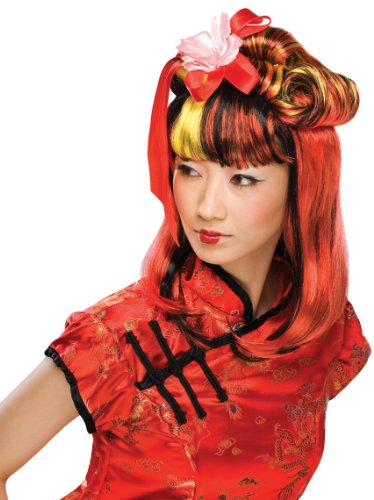 Rubie's Costume Dragon Lady Wig, Red, One Size