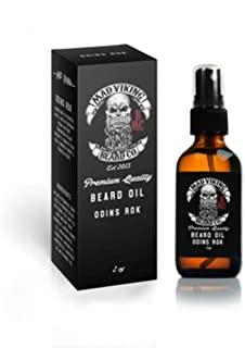 Mad Viking Beard Co. 2 Ounce Premium Odin's Rök Beard Oil for All Lengths, All Natural, Moisturizes Skin and Reduces Beard Itch, Helps Relieve Acne, Thicker Fuller Looking Beard, Made in the USA