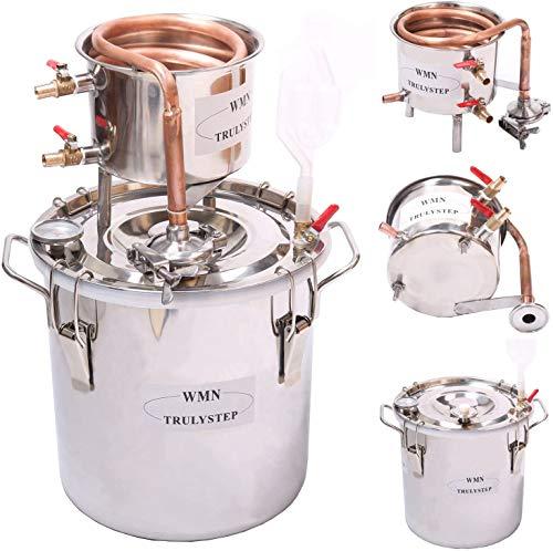 Fayelong CASA Alambicco Distillatore Rame Rosso Moonshine Alcol Rame Kit Per La Fermentazione Del Vino Per Fai Da Te...