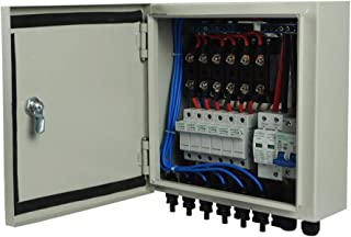 ECO-WORTHY Solar Combiner Box- Fused Pre-wired 6-String 10A Breakers Surge Protection, White
