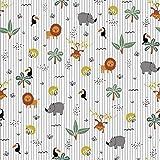 Hans-Textil-Shop Stoff Meterware Dschungel Party Design - 1