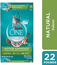 Purina ONE Hairball, Weight Control, Indoor, Natural Dry Cat Food, Indoor Advantage - 22 lb. Bag