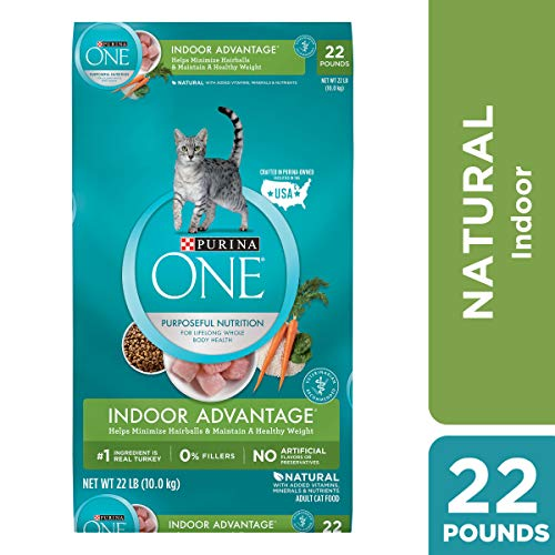 Price comparison product image Purina ONE Hairball,  Weight Control,  Indoor,  Natural Dry Cat Food,  Indoor Advantage - 22 lb. Bag