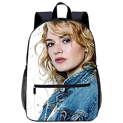 Mochila Infantil con 3D Viaje Mochila-Kate Winslet-Adecuado para: estudiantes de primaria y secundaria, la mejor opción para viajes al aire libre-Tamaño: 45x30x15 cm / 17 pulgadas-mochila escolar pa