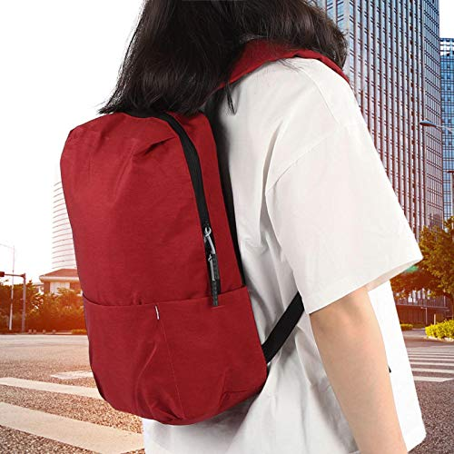SALUTUY Mochila de Viaje de Lona Mochila Deportiva, para Trabajo Escolar(Dark Red)