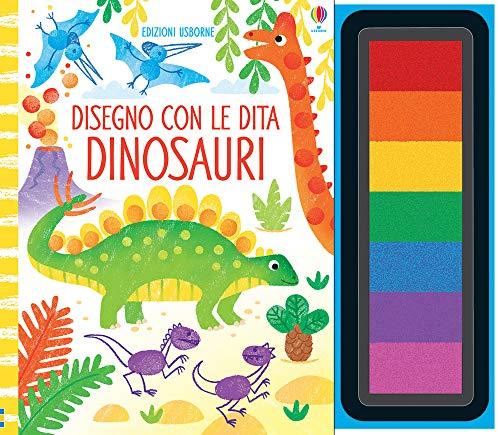 Dinosauri. Disegno con le dita. Ediz. a colori. Ediz. a spirale. Con gadget