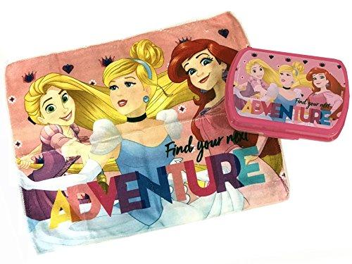 Disney Princesses WD19466 Set de Table et Boîte à Goûter, Enfant, Multicolore, Raiponce, Cendrillon, Ariel