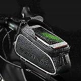 """ConPush Bolsa Cuadro de Bicicleta para Tubo Superior Manillar Impermeable con Pantalla Táctil para Teléfono Móvil Dentro de 6,0"""" para Bicis MTB Bici de Carretera"""