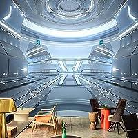 カスタム壁画壁紙3Dステレオサイエンスフィクション宇宙実験室壁画レストランカフェKTVバー壁紙-350x250cm