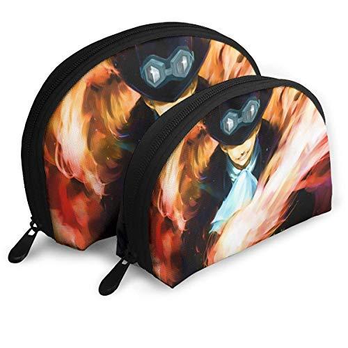 Bolsa de maquillaje de anime Bolsas portátiles bolsa de embrague monedero para mujeres bolsa de almacenamiento de viaje forma de concha